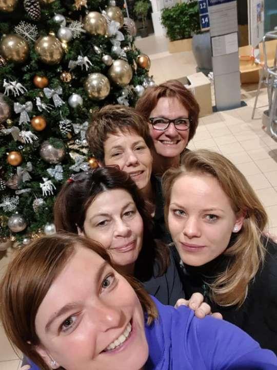 kerstbomen opgetuigd door tuincentrum de Koning Rohel Friesland