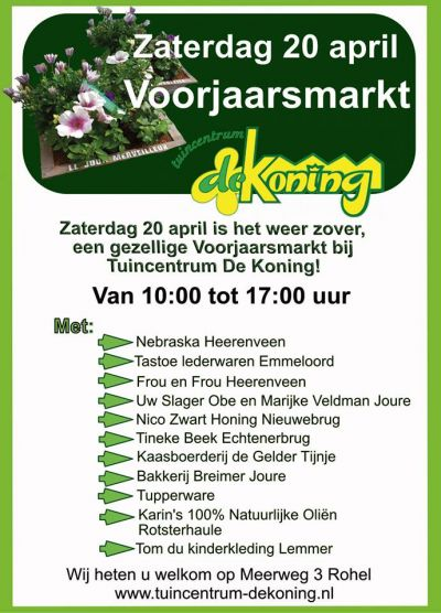 Voorjaarsmarkt 20 april